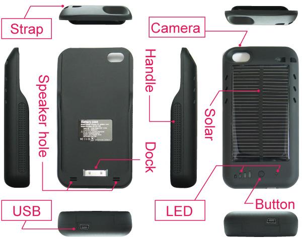 iphone4ケース型充電器